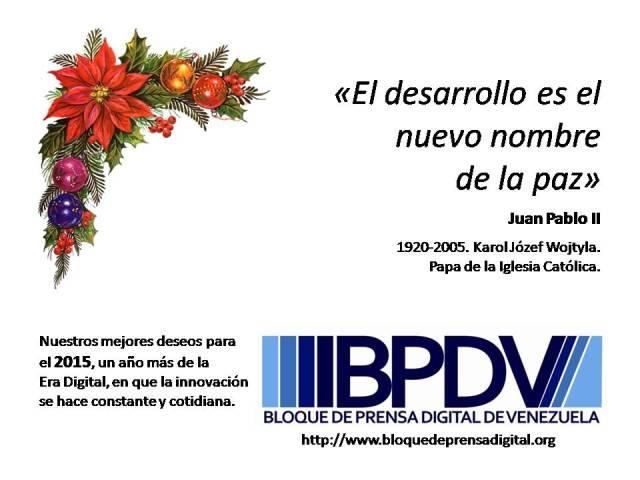 Mensaje de Año Nuevo 2015 del BPDV