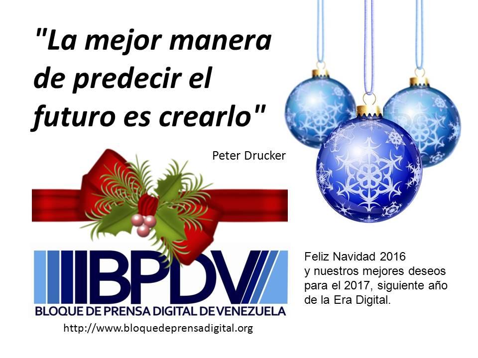 Navidad 2016 - Año Nuevo 2017. Mensaje del¨BPDV