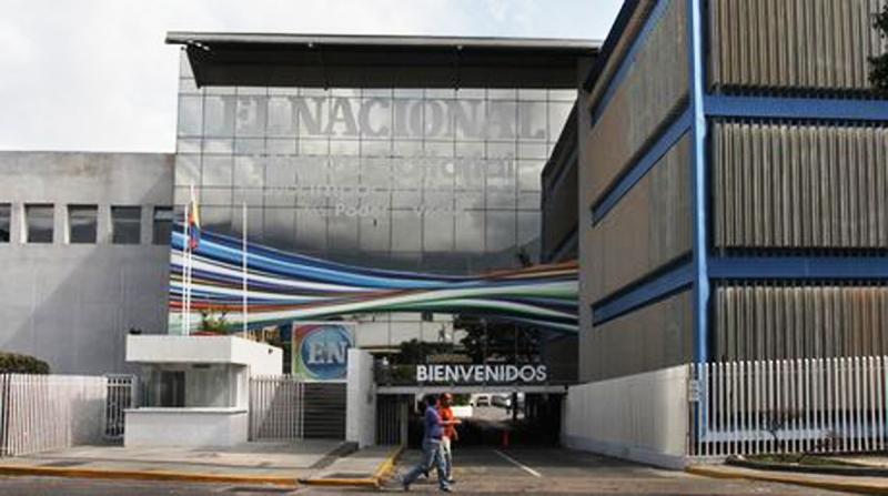 Aspecto de una de las entradas a la corporación editorial El Nacional