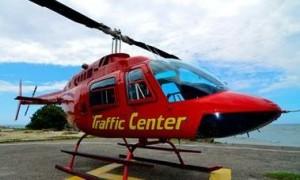 Helicóptero de la corporación radiofónica con el cual realiza los reportes sobre el tráfico automotor.