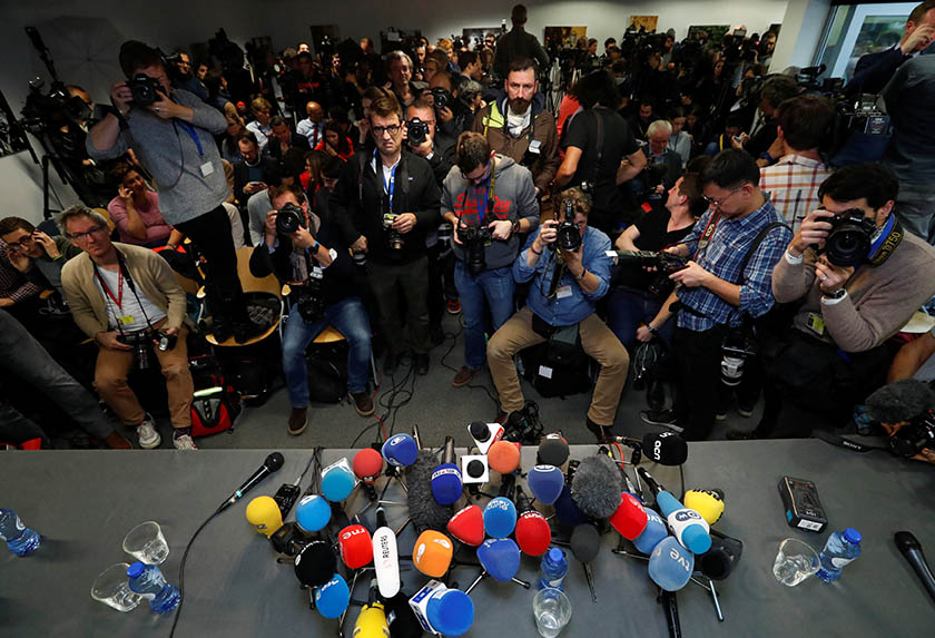 Foto referencial. Periodistas en acción
